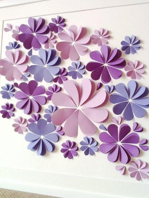 Бумажные цветы своими руками на стену и 67