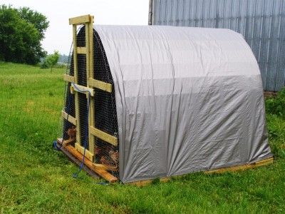 Portable chicken house plans sustainable living pinterest for Portable hen house