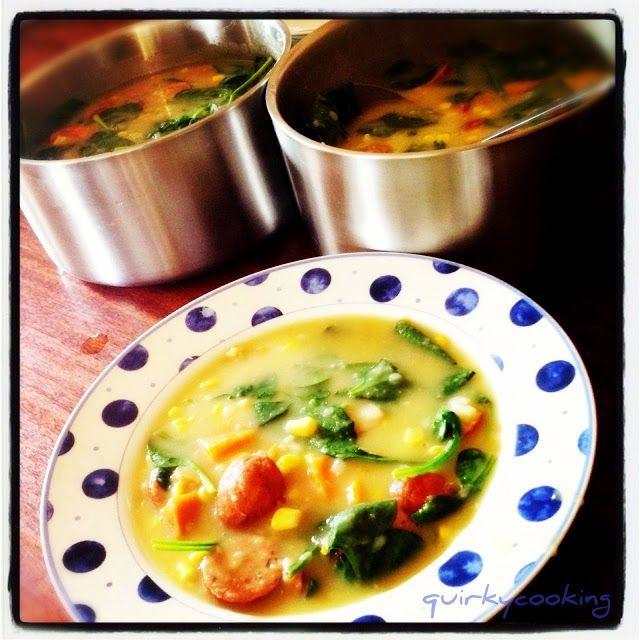 Quirky Cooking: Corn & Potato Chowder with Chorizo Sausage