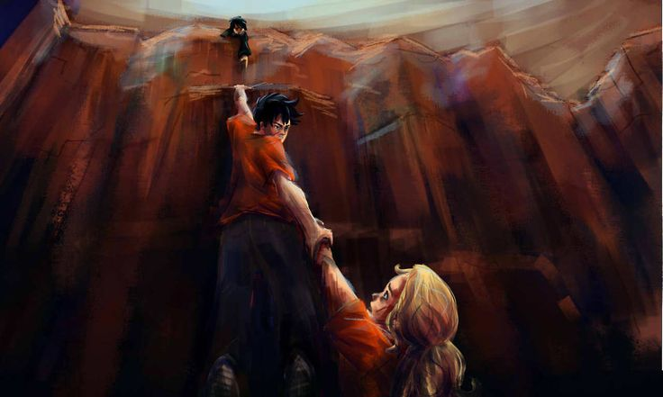 taratjah: Percy Annabeth falling into Tartarus Can't wait for House ... Percy And Annabeth Fall Into Tartarus