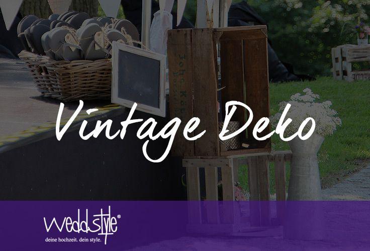 vintage #deko #hochzeit #weddstyle  ♡ VINTAGE HOCHZEITSDEKO ...