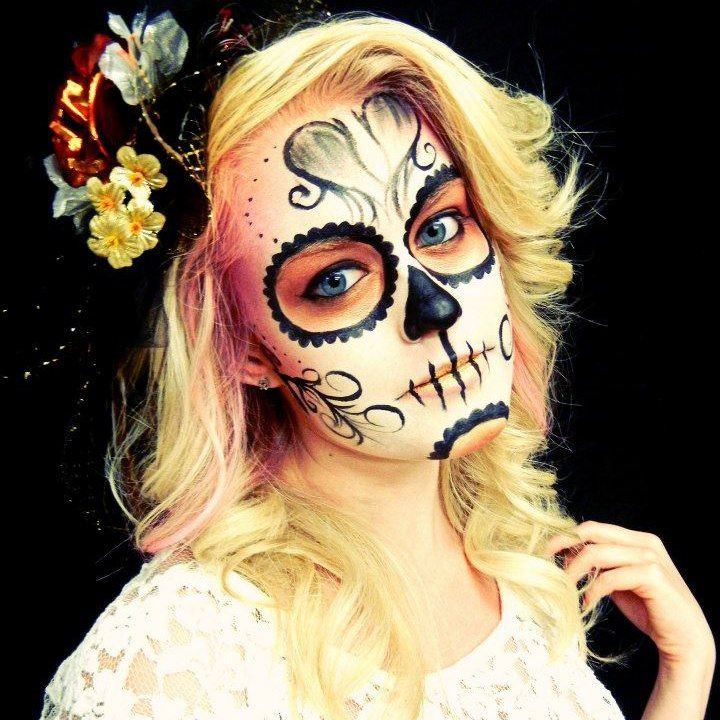Sugar Skull, Day of the Dead Makeup | Dia de los muertos | Pinterest