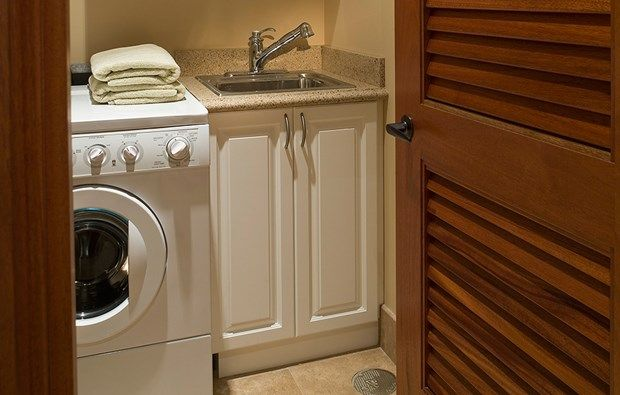 ... . See how to install one yourself. #laundry #laundrysink #basement