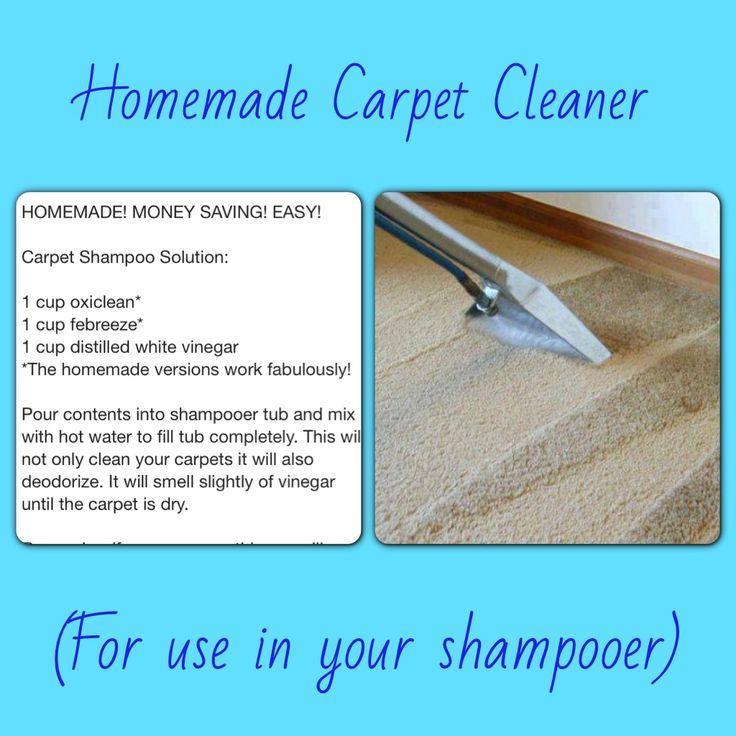 Homemade Carpet Cleaner | Home Remedies/Tricks | Pinterest