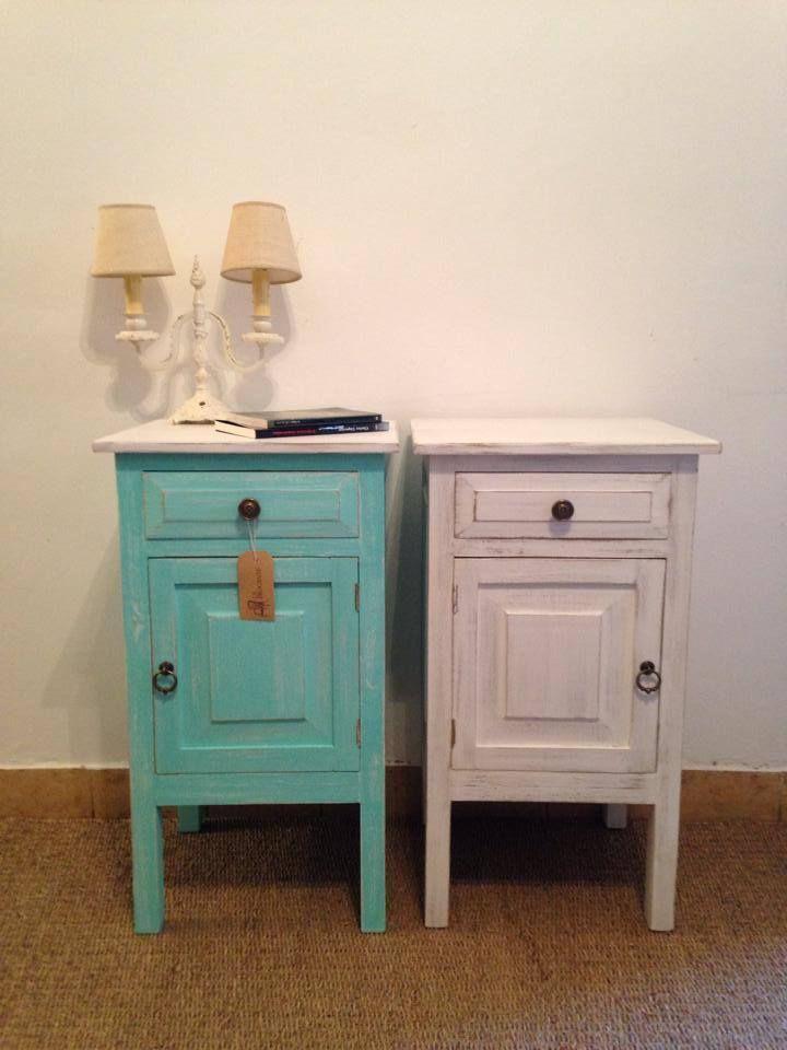 Mesas de luz olivia muebles nuevos - Restaurar muebles vintage ...