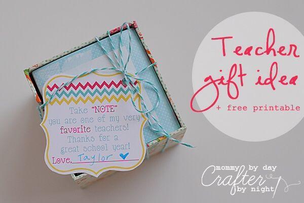 Teacher gift idea + free printable {Teacher Appreciation}