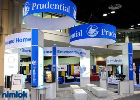 Nimlok designs custom and portable modular  | 20x20 Booth Ideas