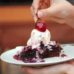 Roasted Cherry Brownie Sundae - the name says it all!