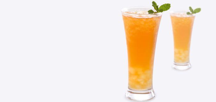 passion fruit iced aloe tea   drinks   Pinterest