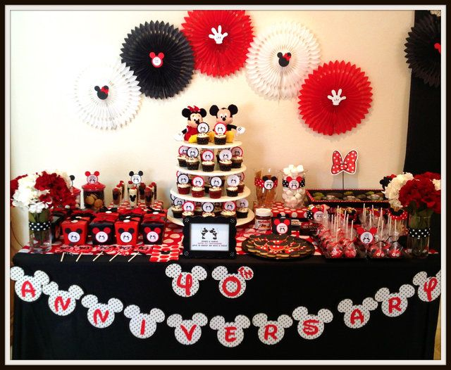 Mickey mouse party mickeymouse party for 40th anniversary party decoration ideas