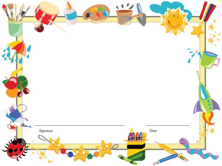 kids certificate template .