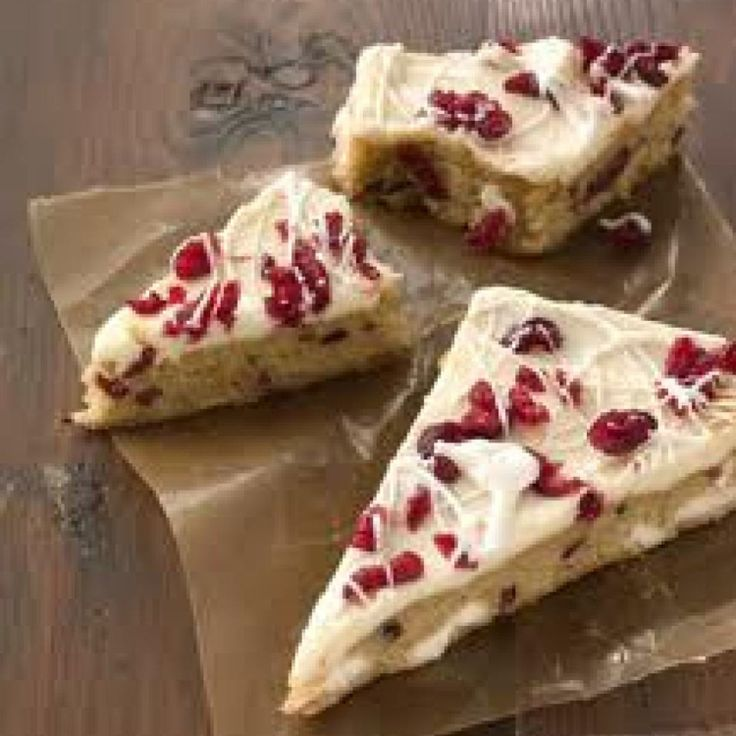 Cranberry Bliss Bars / Starbuck's | Holiday Recipes | Pinterest