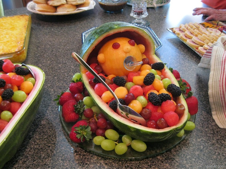 baby basket fruit tray baby shower thoughts pinterest