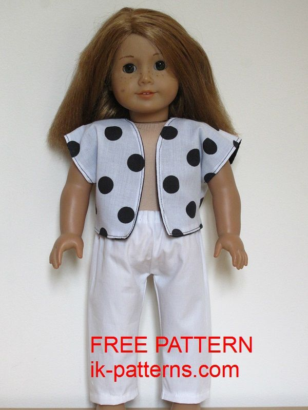 "18"" American Girl Doll clothes sewing patterns to download - FREE ..."