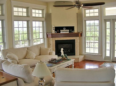 Corner Fireplace Family Room And Corner Fireplaces