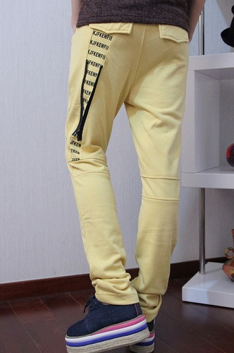 Designer Sports Pants with Prints Inset