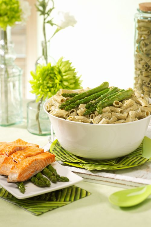... the combination with fresh salmon. #recipe #salmon #asparagus #green