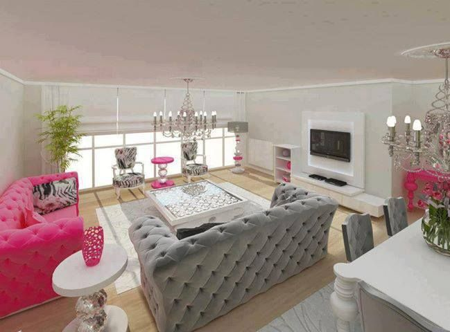 Living room decorating ideas pink n 39 grey pinterest for Gray and pink living room ideas
