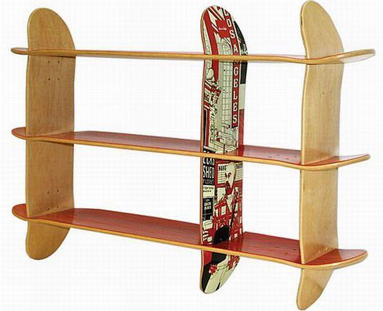 Skateboard Bookshelves 554 x 450