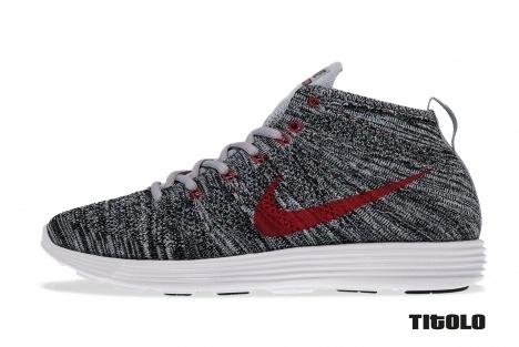 Nike lunar flyknit chukka wolf grey wolf grey black white