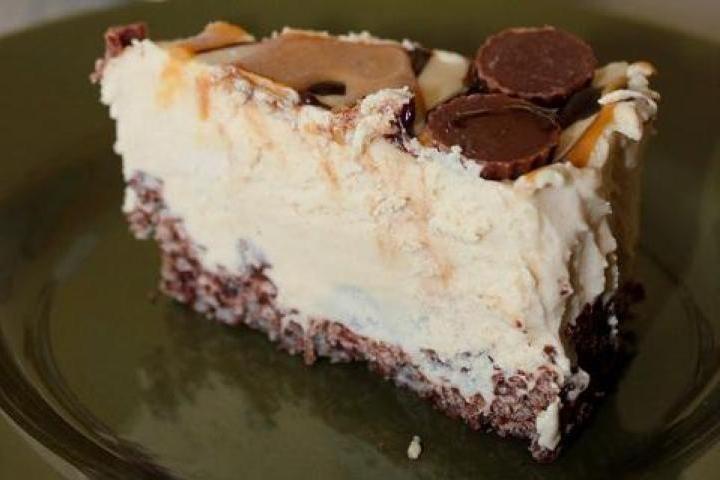 Frozen Peanut Butter Cheesecake Recipe - DEATH BY PEANUT BUTTER