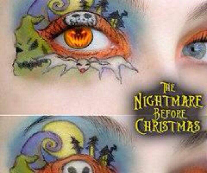 Nightmare Before Christmas eye makeup   Eye Make-up   Pinterest