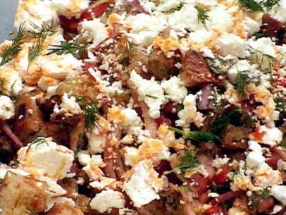 Dakos (Greek Bread Salad) Recipe : Bobby Flay : Food Network