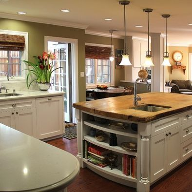 Love the bamboo and clean look of this kitchen