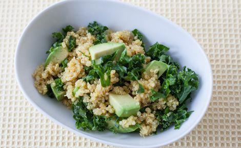 Kale Quinoa Salad with Mango Curry Vinaigrette