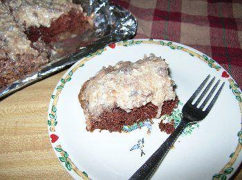 German Chocolate Upside Down Cake ~ German Chocolate my favorite
