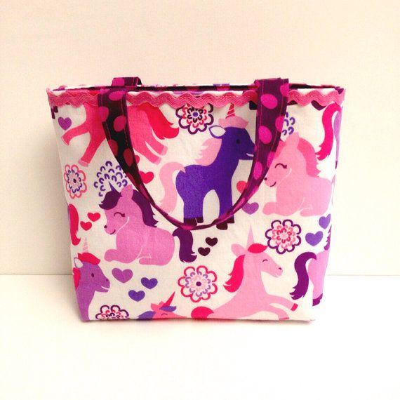 Michael Miller Unicorn toddler tote bag