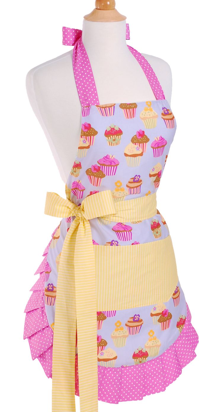 women 39 s apron in frosted cupcake. Black Bedroom Furniture Sets. Home Design Ideas