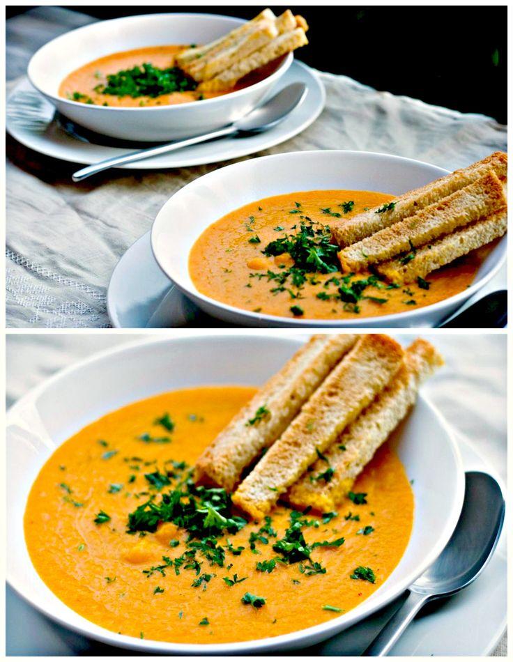 Roasted Carrot & Garlic Soup | SOUPer | Pinterest