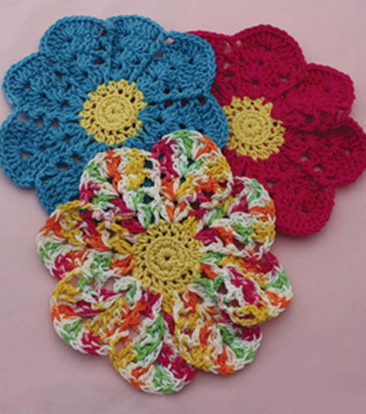 Flower Dishcloth Crochet at Joann.com Crochet Pinterest