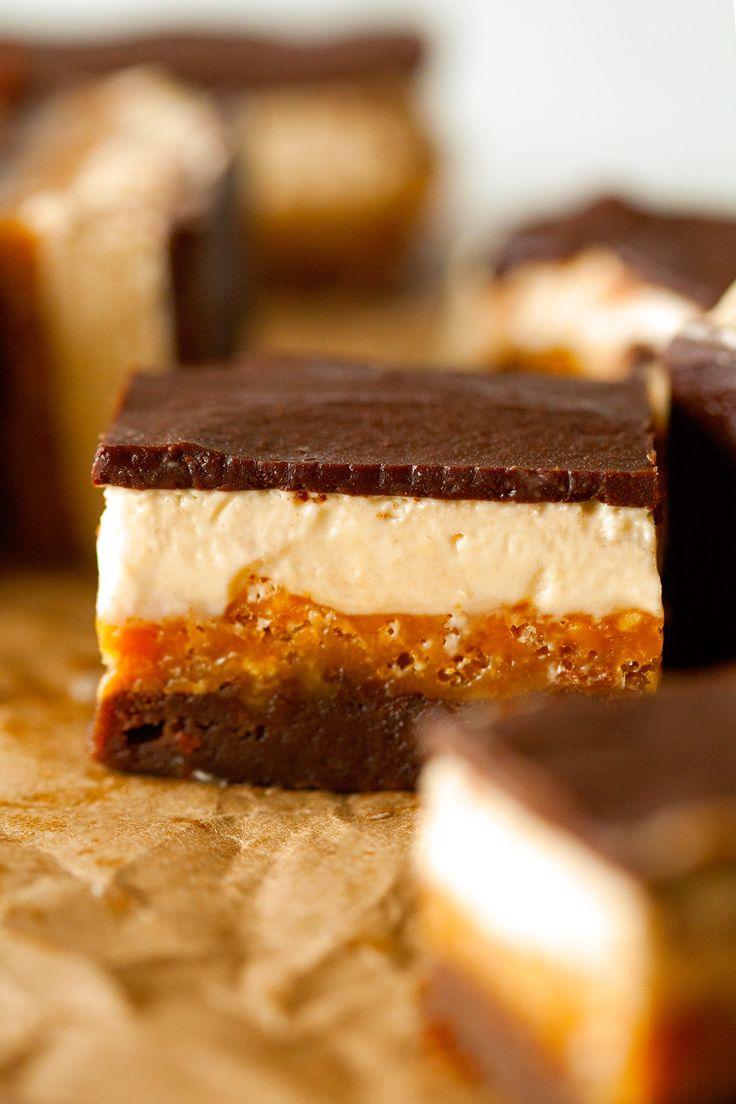 Four-layer Everything Crunch Bars | Yummy Treats | Pinterest