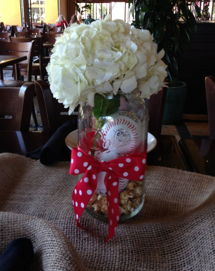 Baseball baby shower centerpiece baby shower ideas for Baby shower centerpiece decoration