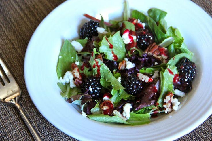 Blackberry Chèvre Salad | yum yum | Pinterest