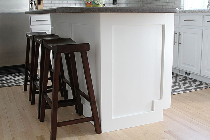 how to add moulding to a kitchen island home improvement