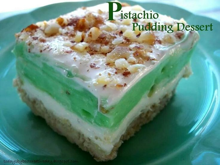 Pistachio Pudding Layer Cake