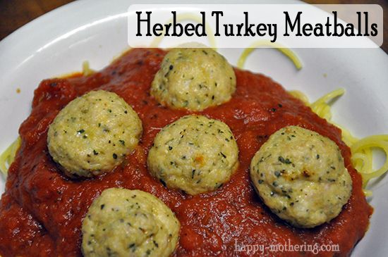Herbed Turkey Meatballs Recipe- I tried this tonight, and they were ...