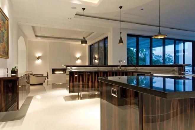 Beautiful kitchen made entirely of Macassar Ebony Veneer All of it