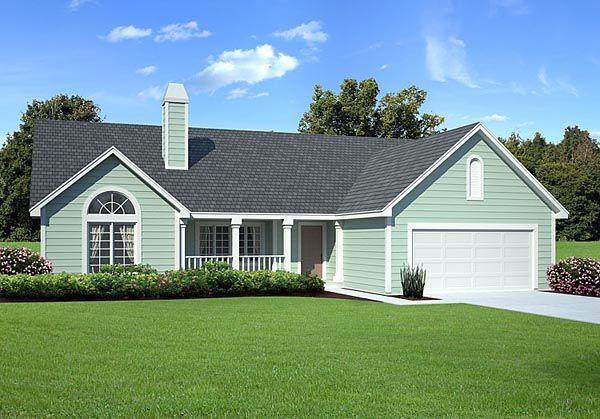 Country ranch traditional house plan 34031 for Traditional ranch homes