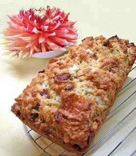Bacon Cheddar quick bread with dried pears...sounds interesting!