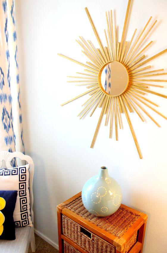 danielle oakey interiors: thrifty tuesdays: DIY sunburst mirror