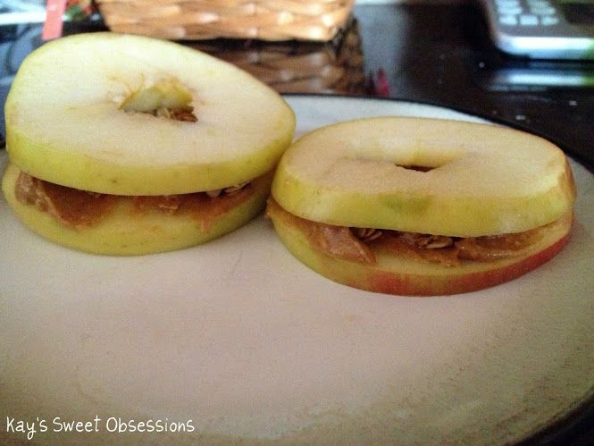 Apple Sandwiches | Kay's Sweet Obsessions | Pinterest