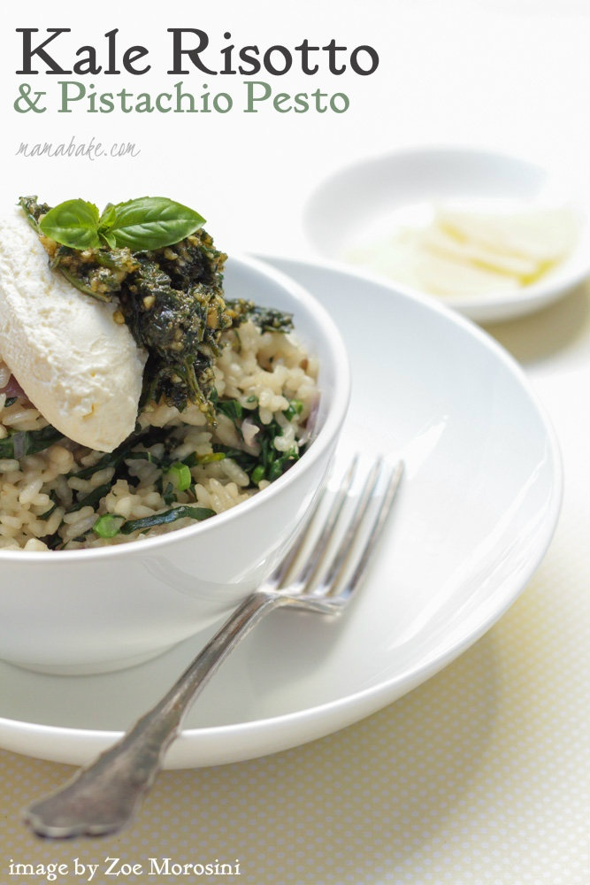 Kale Risotto and Pistachio Pesto | Meals - Vegetarian | Pinterest