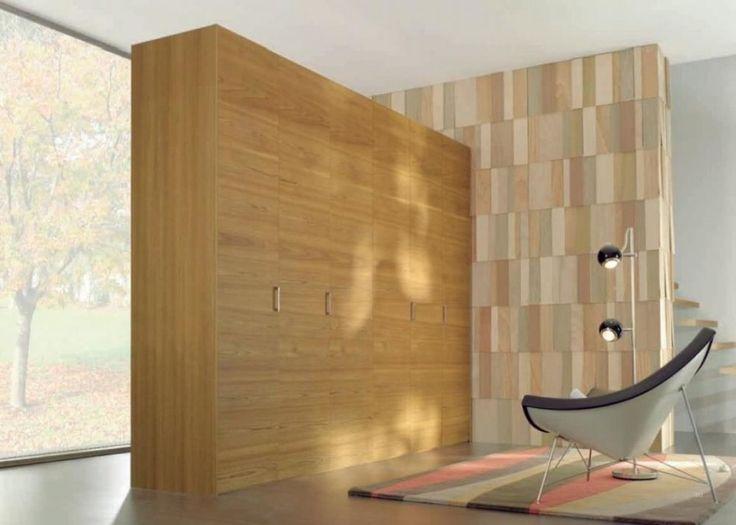 Wood minimalist wardrobe small space design pinterest - Wardrobe for small spaces minimalist ...