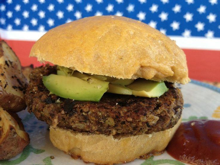 Best Black Bean Burger — FitCakes | Make it fast | Pinterest