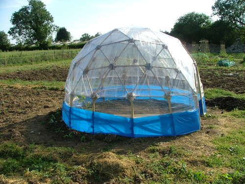DIY Geodetic Greenhouse (low cost)