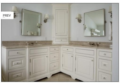 L shaped bathroom vanity bathroom makeover pinterest for Bathroom l shaped vanities